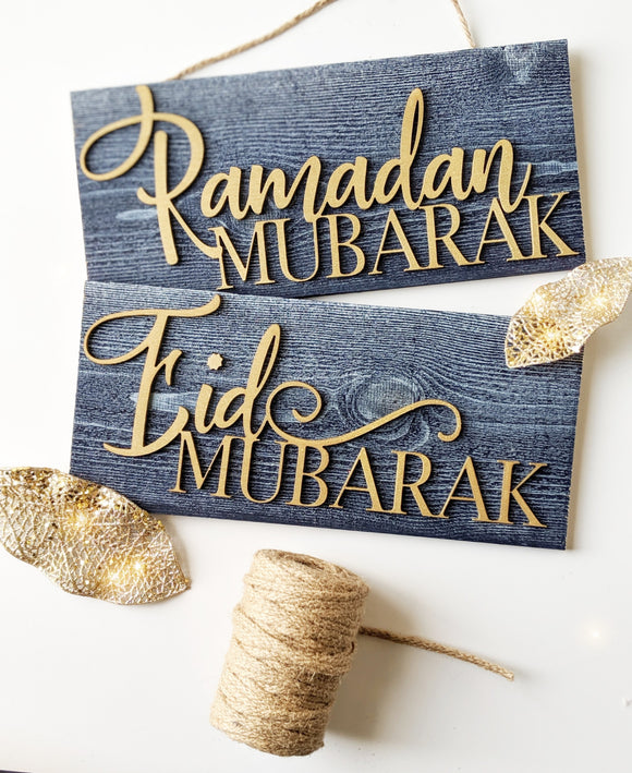 Indigo Mubarak Signs Bundle with Greetings Tags. (Gold)