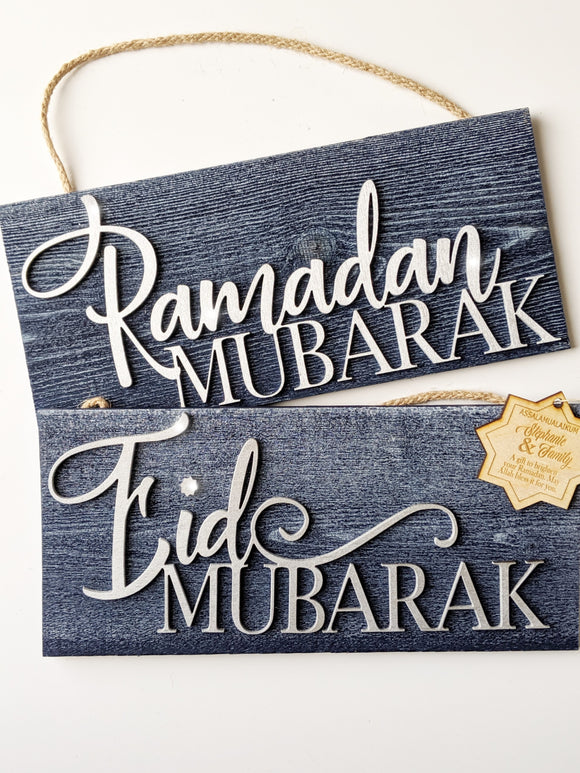 Indigo Mubarak Signs Bundle with Greetings Tags. (Silver)