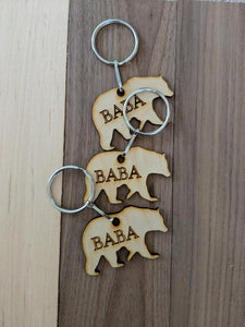 Baba Keychain, Gifts for Him