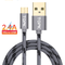 TOPK Micro USB Cable 2.4A Fast Data Sync Charging Cable For Samsung Huawei Xiaomi LG Andriod Microusb Mobile Phone Cables