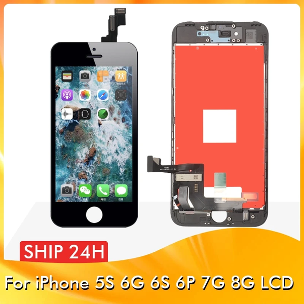 Grade AAA+++ For iPhone 6S 7 8 LCD With 3D Force Touch Screen Digitizer Assembly For iPhone 5S 6 6Plus Display No Dead Pixel