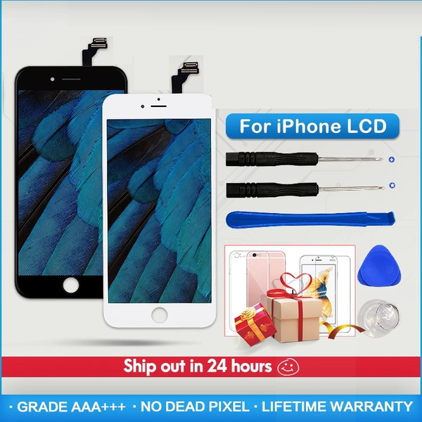 Grade AAA+++ For iPhone 6 6S 7 8 Plus LCD With 3D Force Touch Screen Digitizer Assembly For iPhone 5 5S X Display No Dead Pixel