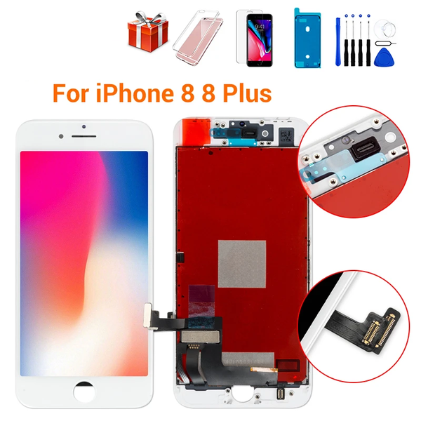 Grade AAA+++LCD Screen For iPhone 8 8 Plus Display OEM Digitizer Assembly 3D Touch Replacement For iPhone 7 7P LCD Lens Pantalla