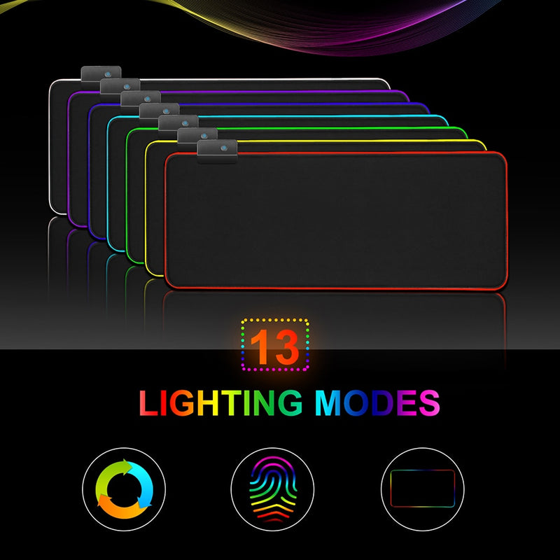Gaming Mouse Pad Gamer RGB Mouse Pad Large Computer Mouse Pad XXL Mousepad Backlight Mause Pad 900x400 Carpet Keyboard Desk Mat