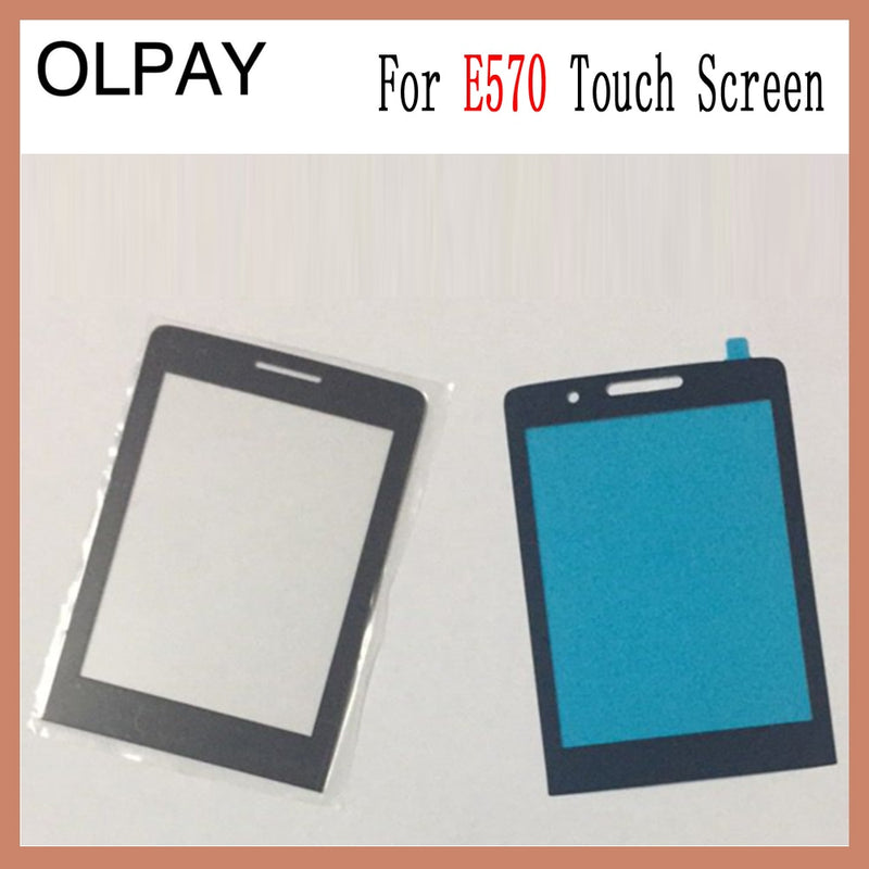 "100% New Original Mobile Phone 2.8"" inch Lens Front Glass For Philips E570 CTE570 E571 LCD Front Glass Replace"