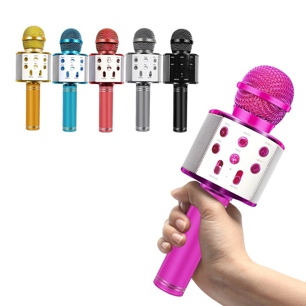 WS858 Microphone Bluetooth Wireless USB WS 858 Professional Speaker Consender Ktv Mobile Phone Player Mic Record Music
