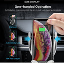 (Dropshipping )Automatic Clamping 10W Wireless Car Charger S5 Charging Phone Holder Mount in Car for iPhone xr Huawei Samsung