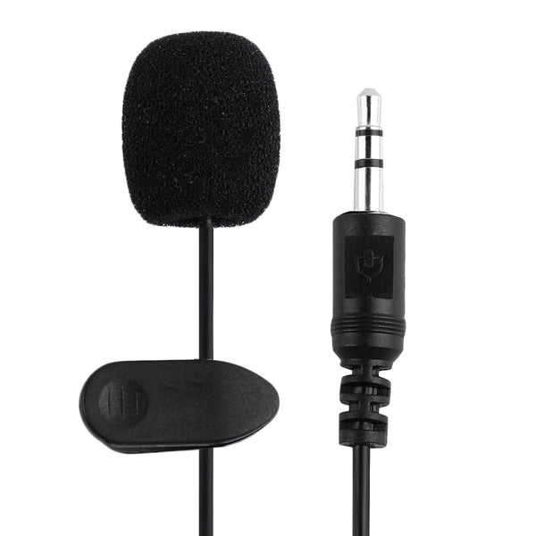 Dropshipping External 3.5mm Clip-on Lapel Lavalier Microphone For Smart Phone PC Laptop