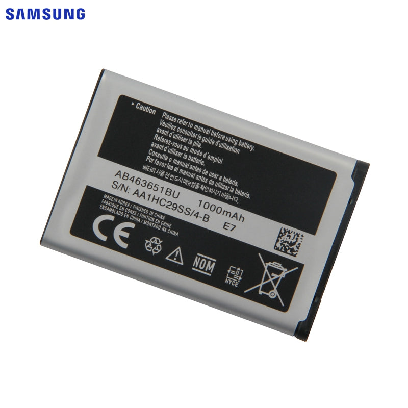 SAMSUNG Original Battery AB463651BC AB463651BE AB463651BU For Samsung W559 S5620I S5630C C3200 F339 S5296 C3322 GT-C3530 S5610