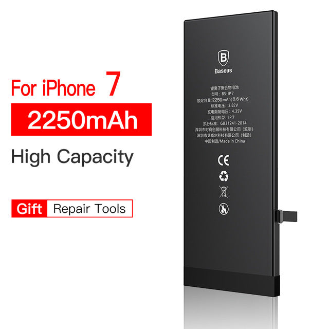 For iPhone 7 7 Plus 7plus Battery Baseus Mobile Phone Battery High Capacity Bateria Original Replacement Batterie For iPhone7 7p
