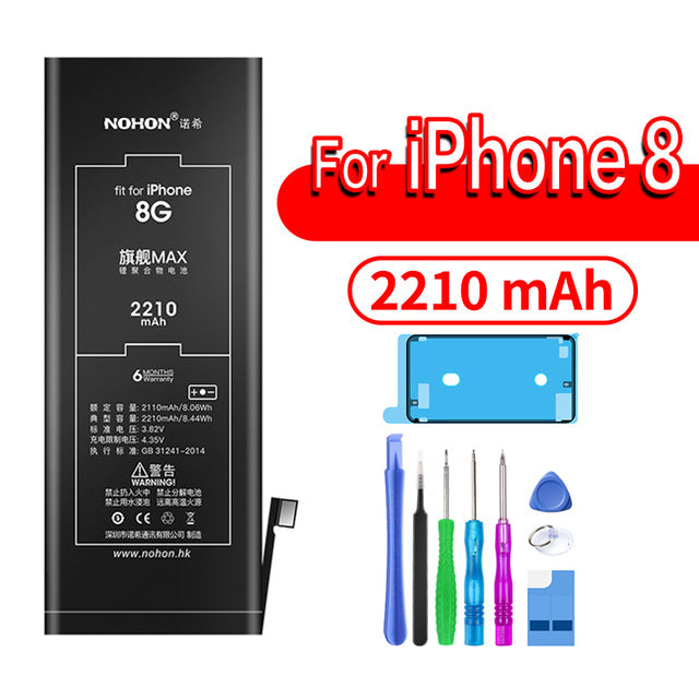 NOHON Lithium Battery For Apple iPhone 6S 6 7 8 Plus 5S 5 X SE Xr Xs Max 6Plus 7Plus Replacement Bateria For iPhone6 iPhone7