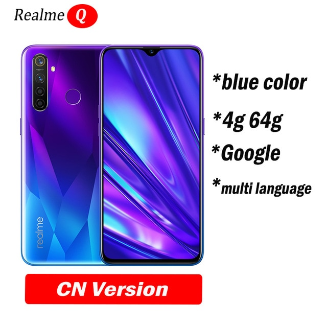 realme Q global not relme 5 pro 6.3inch Moblie Phone Snapdragon 712AIE Octa Core 48MP Cellphone VOOC 20W Fast Charger