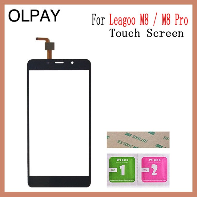 "5.7"" inch For Leagoo M8 Pro Touch Screen Digitizer For Leagoo M8 Touch Panel Touchscreen Sensor Front Glass Free Adhesive+Wipes"