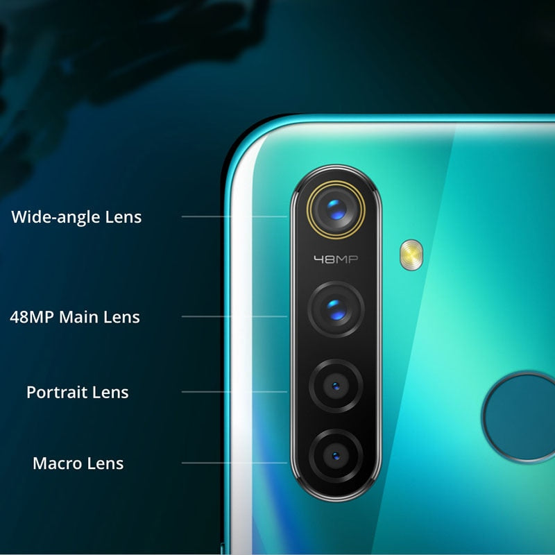 Global Version Realme 5 Pro 4GB RAM 128GB Mobile Phone Snapdragon 712AIE 48MP Quad Camera Smartphone 4035mAh Fast Charger