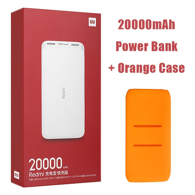 Newest Xiaomi Redmi Original Power Bank 20000mAh 18W Quick Charge 10000mAh Powerbank Fast Charging Portable Charger