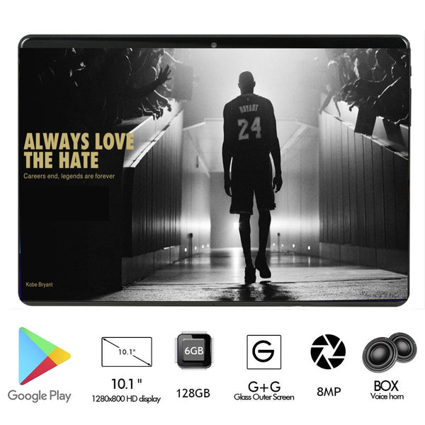 2020 New 2.5D Tempered Glass 6000mAh Power 10 inch Octa Core 4G FDD LTE Tablets 6GB RAM 128GB ROM Android 9.0 Tablet 10.1+Gifts