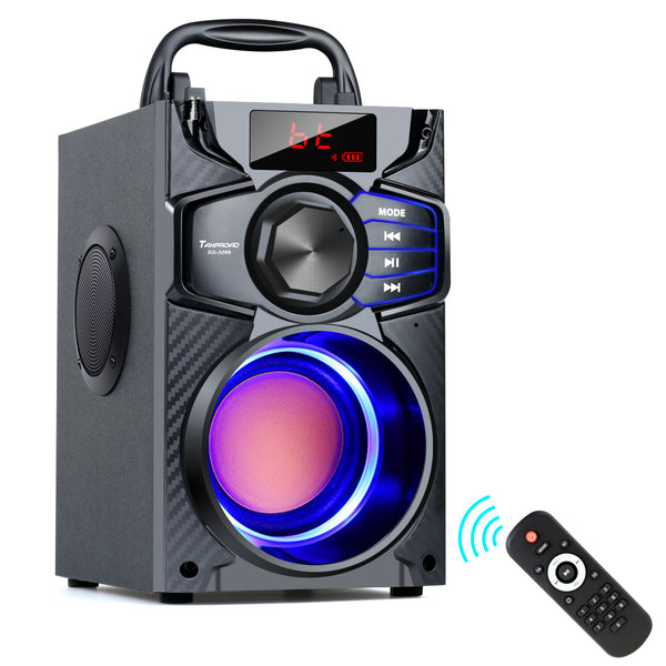 TOPROAD Bluetooth Speaker Portable Wireless Stereo Subwoofer Bass Big Party Speakers Column Support FM Radio USB Remote Control