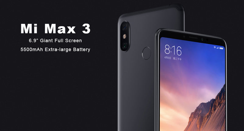 "Global ROM Xiaomi Mi Max 3 6GB 128GB 6.9"" Full Screen Snapdragon 636 Octa Core 5500mAh QC 3.0 12MP+5MP Dual Camera Smartphone"