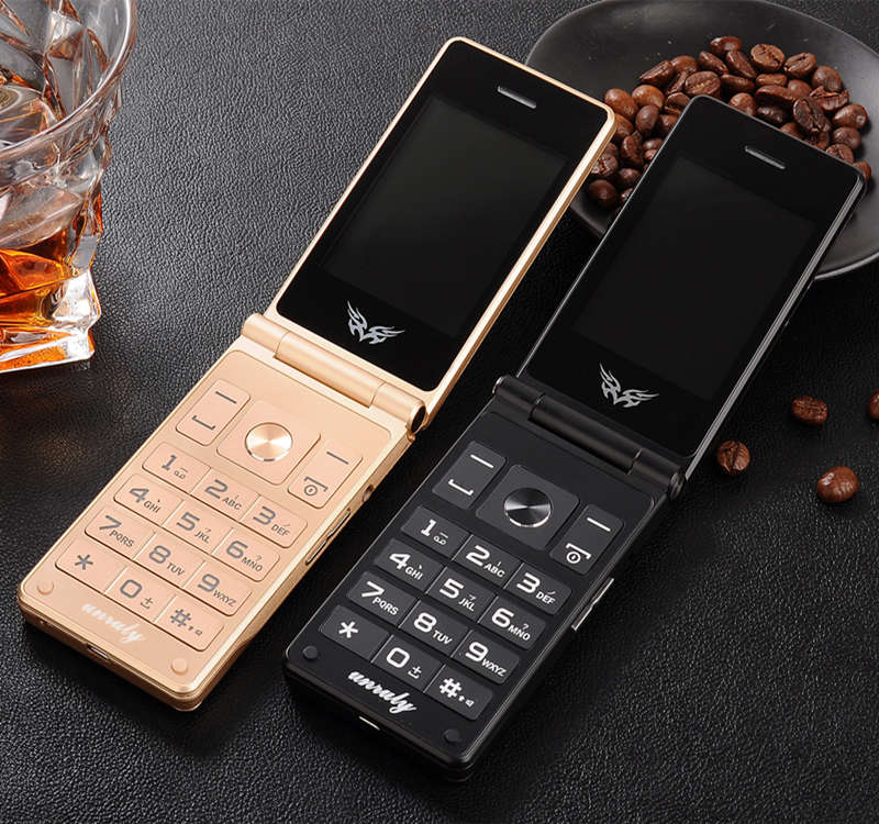 "Flip 2.8"" screen original flip big keyboard cheap senior touch mobile phone Phone Elder clamshell Cell phones russian H-mobile"