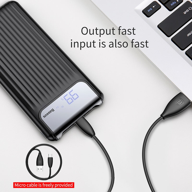 Baseus 10000mAh Quick Charge 3.0 USB Power Bank For iPhone X 8 7 6 Samsung S7 Edg Xiaomi Powerbank Battery Charger Bank QC3.0