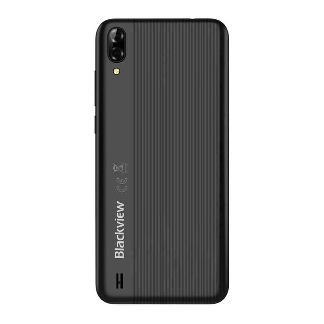 Blackview A60 3G Mobile Phone Android 8.1 Smartphone Quad Core 4080mAh Cellphone 1GB+16GB 6.1 inch 19.2:9 Screen Dual Camera