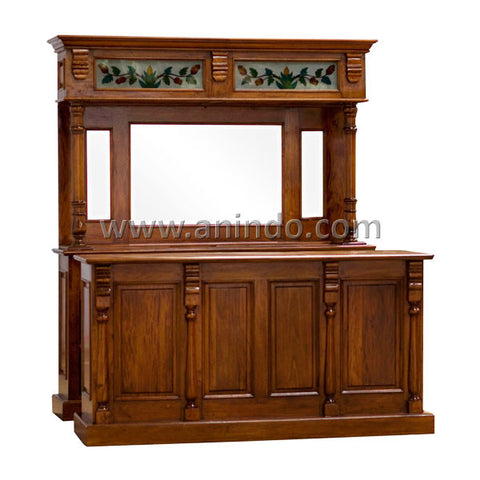 Plain Mahogany Bar