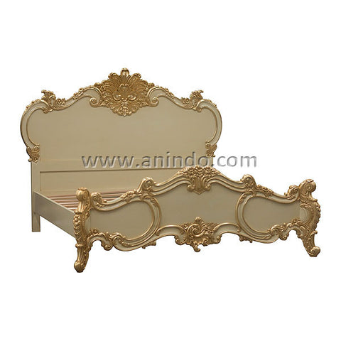 French Carved Bed