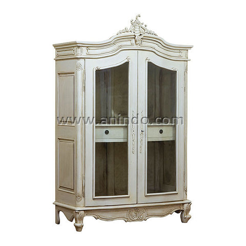 2 Glass Doors Armoire