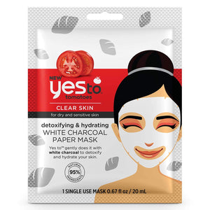 Yes to Tomatoes White Charcoal Paper Mask