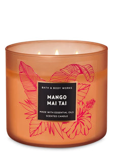 "Bath and Body works 3-Wick scented candle "" Mango Mai Tai"""