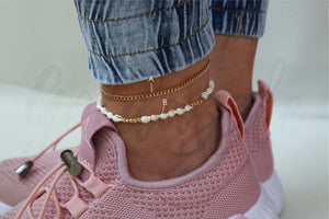 THE TINY SEASHELL ANKLET SET - goldazzle