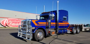 Peterbilt Mid-Triple Stripe Purple Truck - TruckStripes.ca