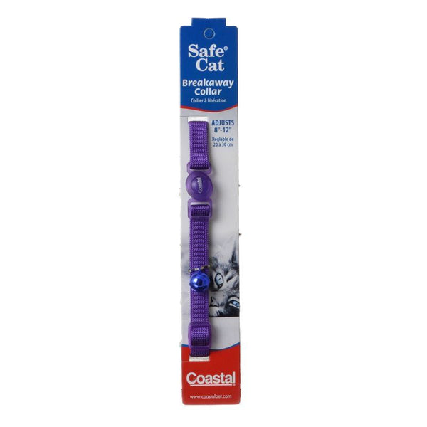 Coastal Pet Safe Cat Nylon Adjustable Breakaway Collar - Purple