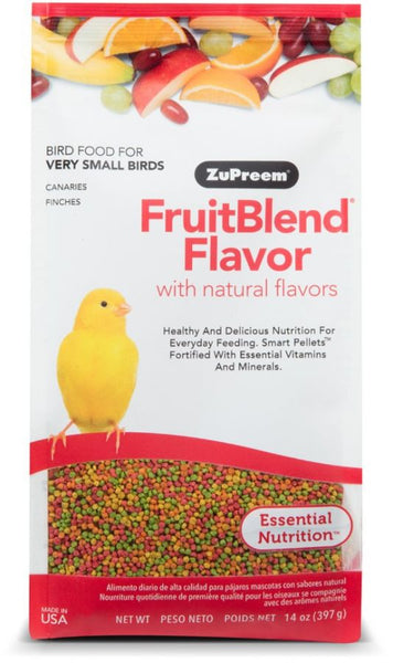 ZuPreem FruitBlend Flavor Bird Food for Very Small Birds