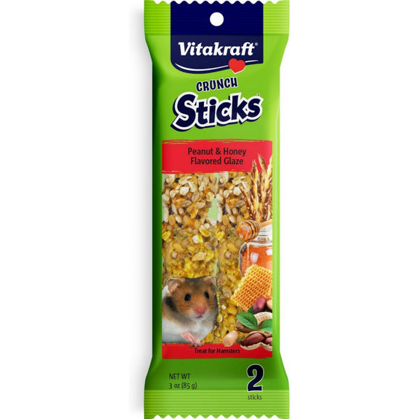 Vitakraft Crunch Sticks Peanut & Honey Flavored Glaze for Hamsters