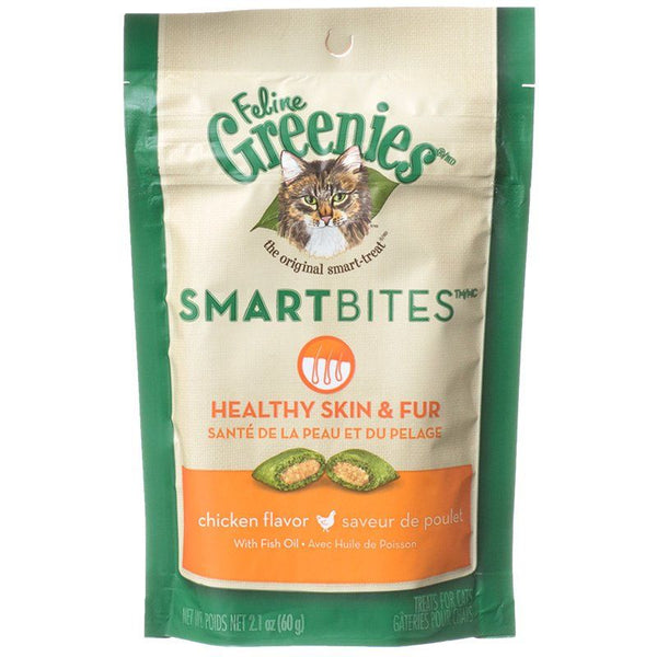 Greenies SmartBites Healthy Skin & Fur Chicken Flavor Cat Treats