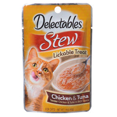 Hartz Delectables Stew Lickable Cat Treats - Chicken & Tuna
