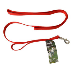 Loops 2 Double Nylon Handle Leash - Red