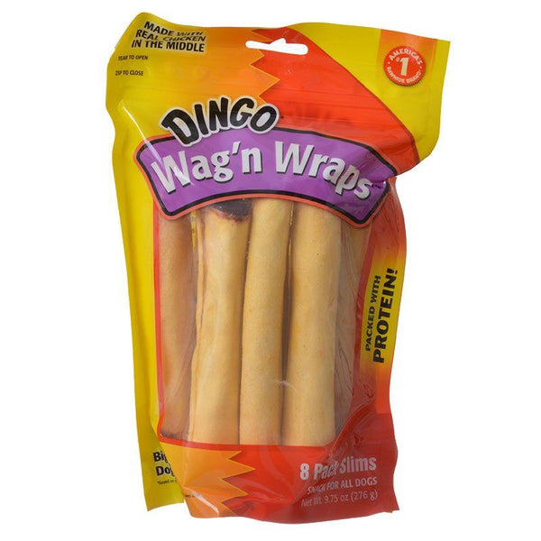 Dingo Wag'n Wraps Chicken & Rawhide Chews (No China Sourced Ingredients)
