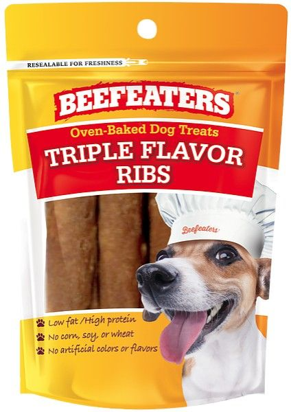 Beafeaters Oven Baked Triple Flavor Ribs Dog Treat