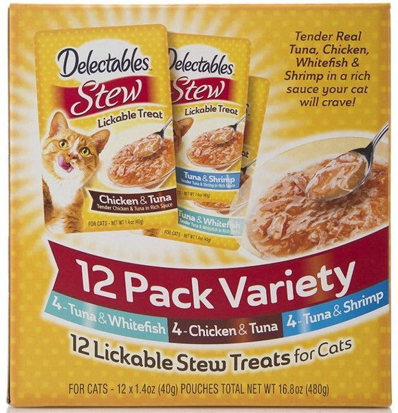 Hartz Delectables Stew Lickable Treat for Cats - Variety Pack