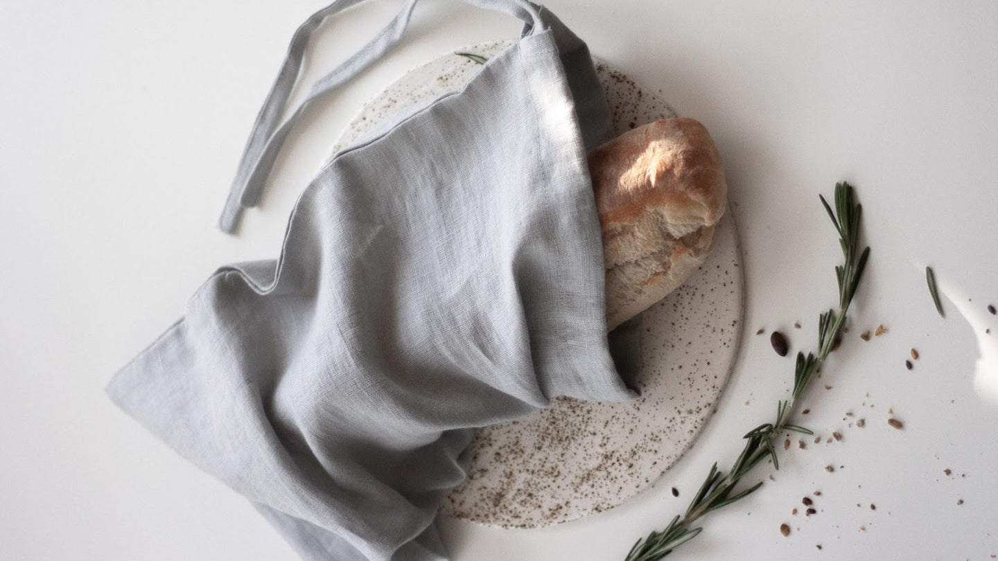 Reusable quick drying bread bags