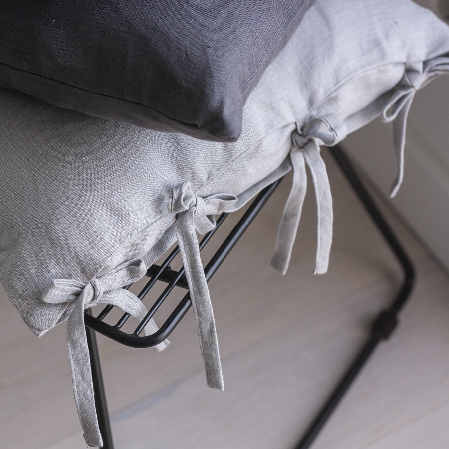 Rusty Linen Pillow Case With Ties