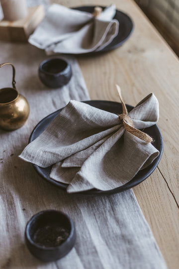 Natural Light Large Linen Napkins Set of 2