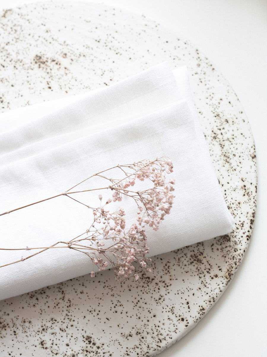 White Linen Napkins Set Of 2