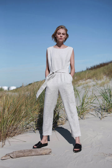 Natural Light Linen Jumpsuit