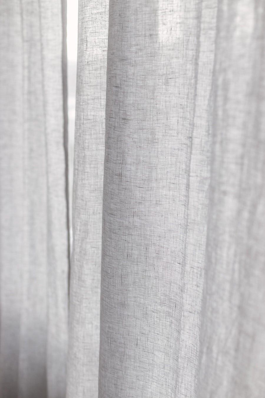 Cloud Gray Linen Curtain