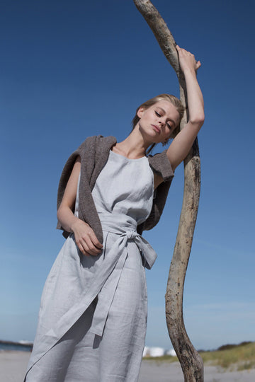 Cloud Grey Linen Dress