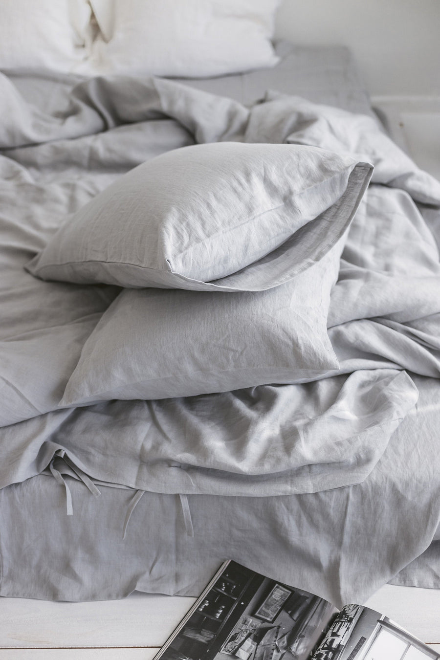 Cloud Gray Linen Pillow Case