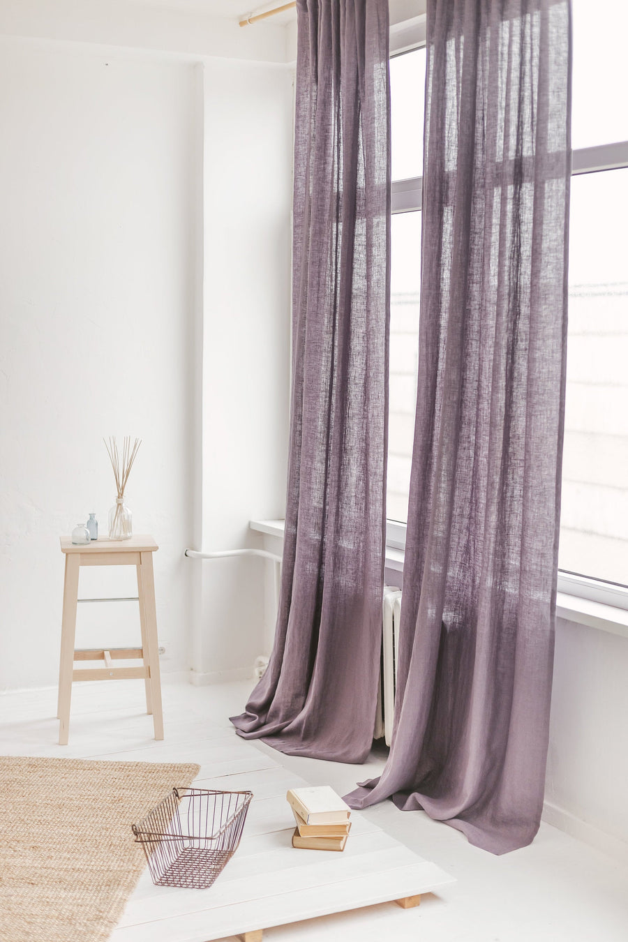 Grape Linen Curtain